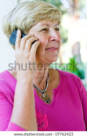 senior woman on the cellphone