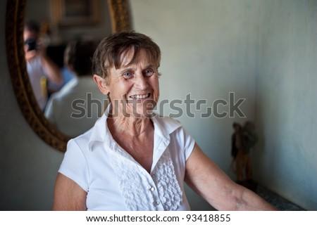 Senior Woman Portrait - stock photo