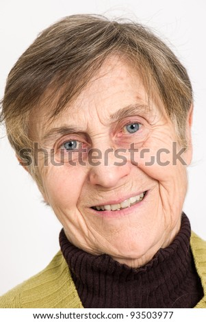Senior Woman Smiling - stock photo