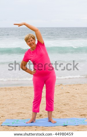 senior woman, young heart - stock photo