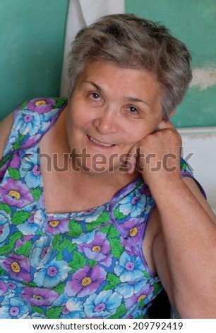 Senior women smiling - stock photo