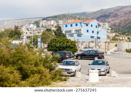 SENJ, CROATIA - OCTOBER 1: City view of the small town Senj in Croatia on October 1, 2009. Its an old town on the upper Adriatic coast in Croatia, in the foothills of the Mala Kapela mountains.