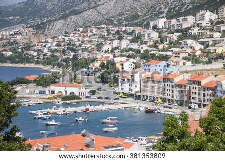 SENJ, CROATIA, Sept. 14, view of the city from the hill