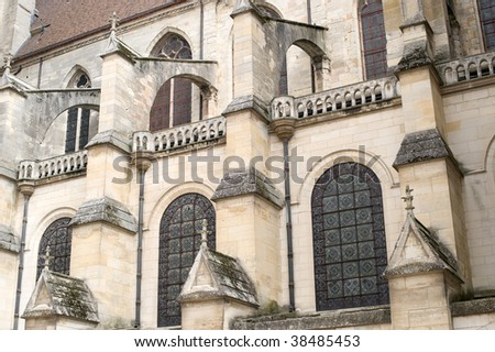 Sens (Yonne, Burgundy, France) - Exterior of the Saint-Etienne cathedral, in gothic style