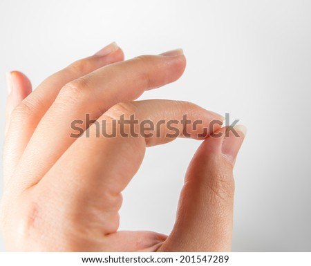 sensitive feeling hand conducting - stock photo