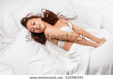Sensual beauty woman in bed
