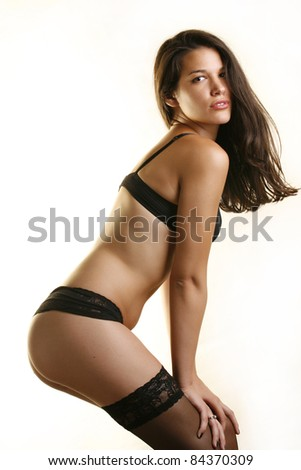 Sensual lady in lingerie