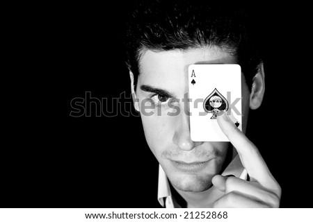 sensual magician portrait - stock photo