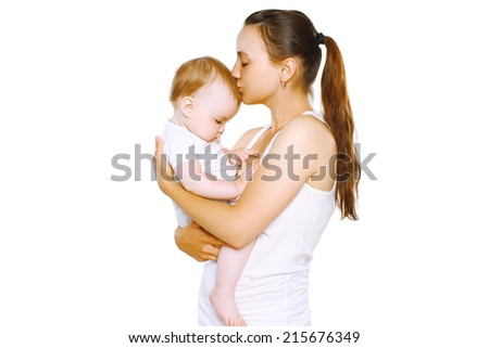 Sensual mother and baby - stock photo