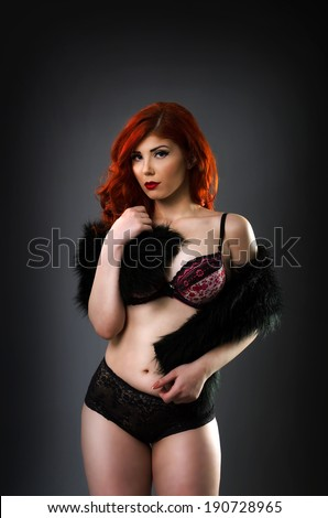 Plus size redhead nude