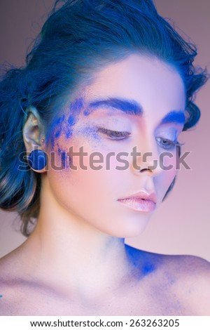 Sensual portrait of a beautiful lady - stock photo
