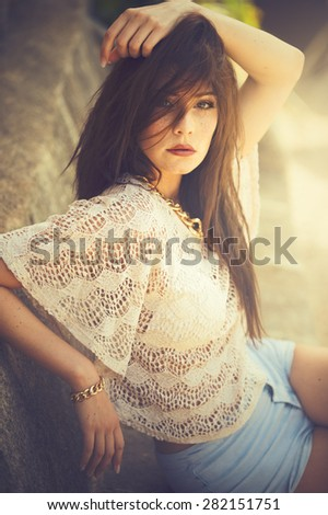 sensual woman - stock photo