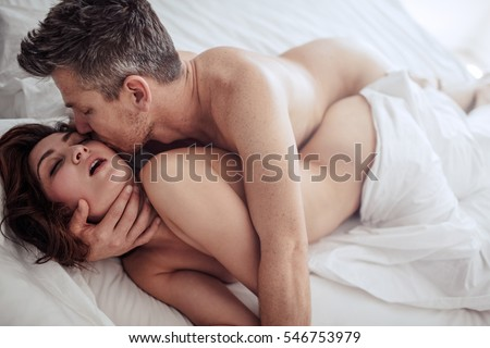 Man and woman romantic sex