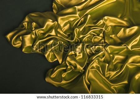 Sensuous Smooth gold, yellow Satin - stock photo