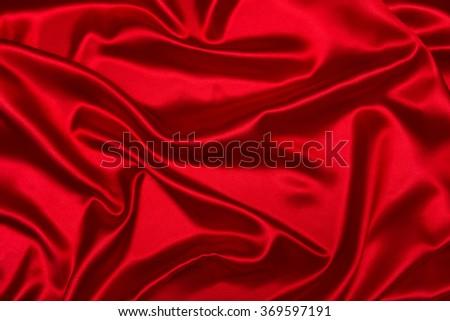 Sensuous Smooth Red Satin - stock photo