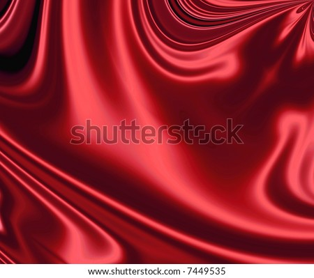 Sensuous Smooth Red Satin - stock photo