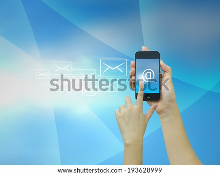 sent message,email - stock photo