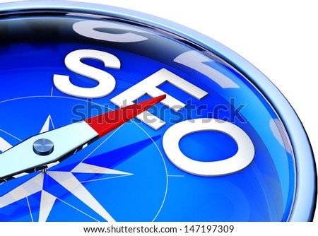SEO compass - stock photo
