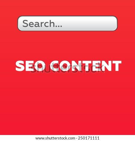 SEO CONTENT - stock photo