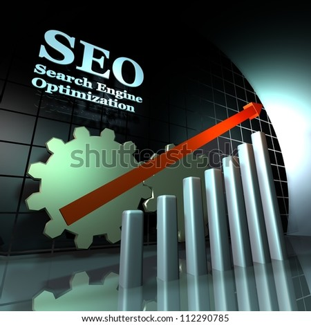 SEO gears - stock photo