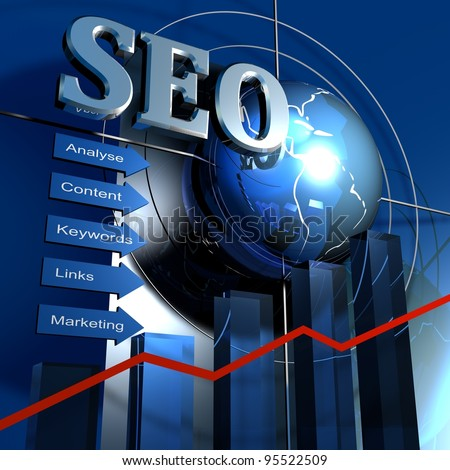 SEO graph - stock photo