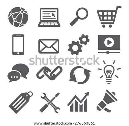 SEO icons - stock photo