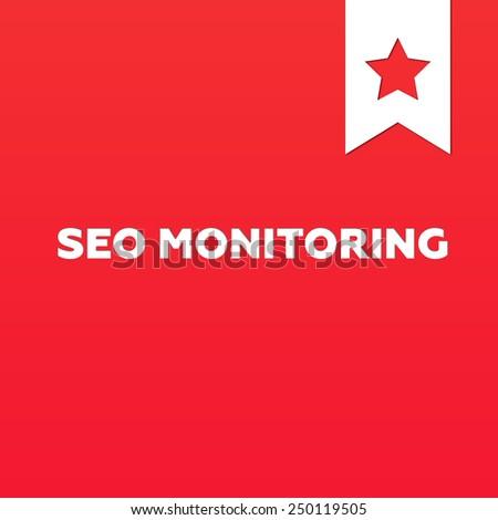 SEO MONITORING - stock photo
