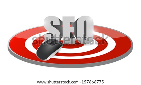 seo mouse target illustration design over a white background - stock photo