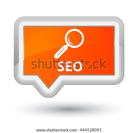 Seo orange banner button - stock photo