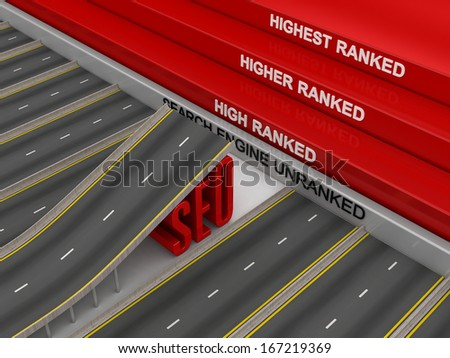 SEO ramp - for the higher jump! - stock photo