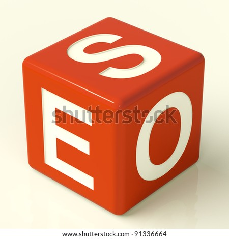 Seo Red Dice Representing Internet Optimization And Promotion - stock photo