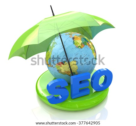 SEO - Search Engine Optimization in the design of the information related to the Internet and promotion - stock photo