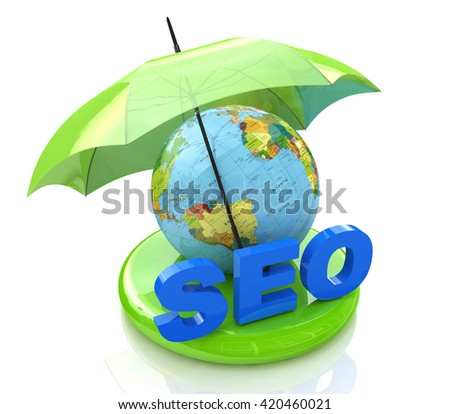 SEO - Search Engine Optimization in the design of the information related to the Internet and promotion. 3d illustration - stock photo