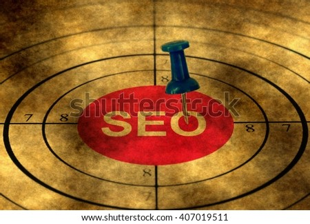 Seo target grunge concept - stock photo