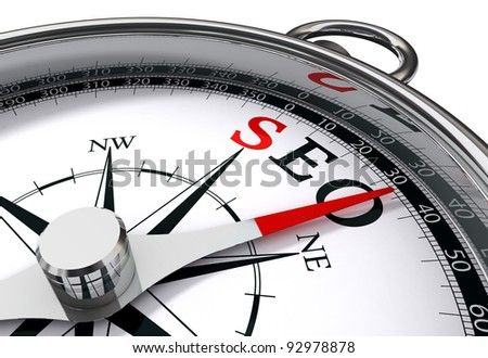 seo the way indicated by compass conceptual image - stock photo