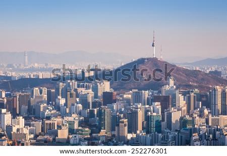 Seoul City , South Korea - stock photo