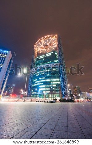 SEOUL, SOUTH KOREA - FEBRUARY 28, 2015 : Jongno Tower in Seoul. Top floor of the building is equipped with a restaurant and bar which is famous for its view of Jongno and Seoul.