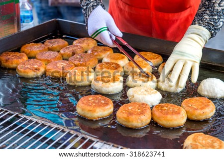 SEOUL, SOUTH KOREA - SEPTEMBER 20: Namdaemun Market in Seoul, is the oldest and largest market in South Korea. Photo taken on September 20, 2015 in Seoul, South Korea. - stock photo