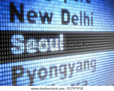 Seoul. World capitals Full collection of icons like that is in my portfolio - stock photo