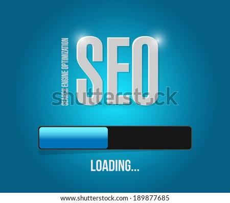 sep search engine optimization loading bar illustration design over a blue background - stock photo