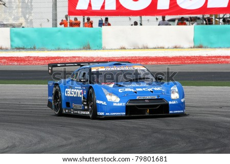 SEPANG   JUNE 18: The Nissan GTR R35 Car Of Team IMPUL Takes To The