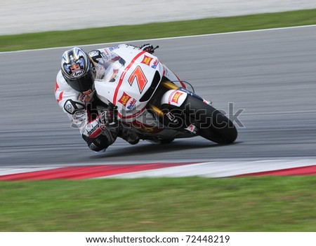 SEPANG, MALAYSIA-FEB 24: Hiroshi Aoyama of San Carlo Honda Gresini at MotoGP Official Test Sepang 2 on Feb 24, 2011 in Sepang, Malaysia. - stock photo