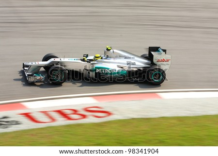 SEPANG, MALAYSIA - MARCH 23: Felipe Massa of Ferrari F1 team racing during Formula One Teams Test Days at Sepang circuit on March 23, 2012 in Sepang, Malaysia.