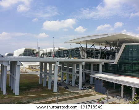 SEPANG, MALAYSIA - MAY 09 , 2014: A general view of Kuala Lumpur International Airport 2 (KLIA2) on May 9, 2014 in Sepang, Selangor, Malaysia. The 2nd terminal is catered for low cost airlines.