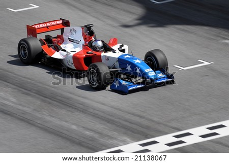 Sepang, Malaysia - November 21: Marco Andretti, Driver of USA A1 Team in the Malaysian A1Grand Prix,  Round 3, 2008-2009 Session.