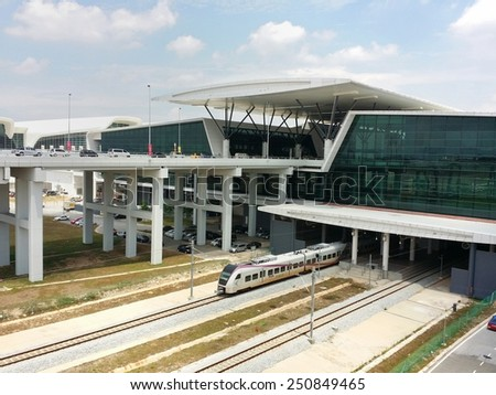 SEPANG, SELANGOR, MALAYSIA-MAY 9, 2014: A general view of a new low cost terminal Kuala Lumpur International Airport 2 (KLIA) in Sepang, Selangor. The new airport started in operational on 1 May 2014. - stock photo