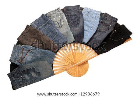 Separate jeans models - stock photo