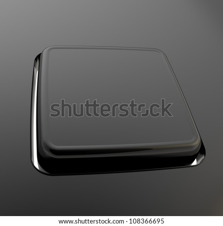 Separated keyboard button copyspace made of black mat plastic