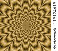 Sepia Eye Bender/Digital abstract image with a psychedelic circular pattern in sepia coloring producing an optical illusion of movement. - stock photo