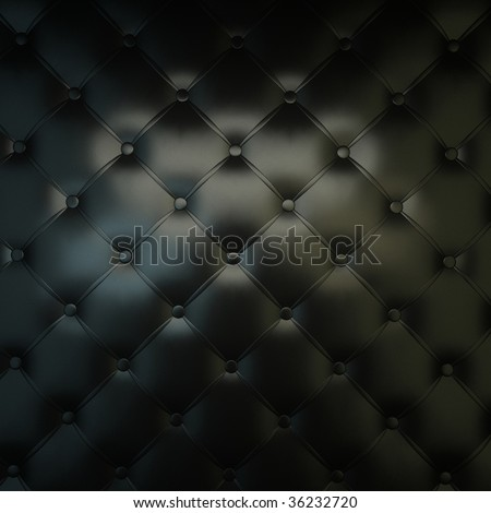 Sepia luxury buttoned black leather - stock photo
